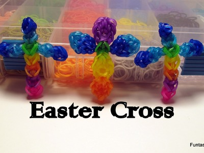 Rainbow Loom Easter Cross Charm - How to