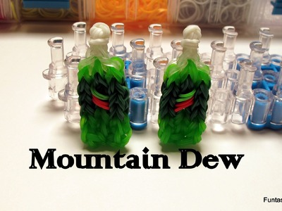 Rainbow Loom Mountain Dew Soda Bottle.drink - How to - Food Series