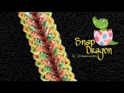SNAP DRAGON Hook Only bracelet tutorial