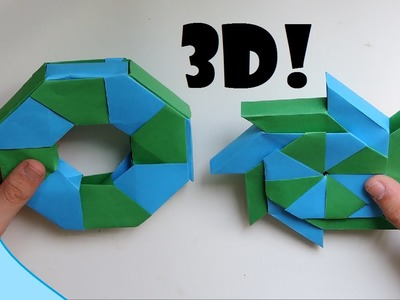 3D Origami Transforming Ninja Star. (Instructions) (Ray Bolt)