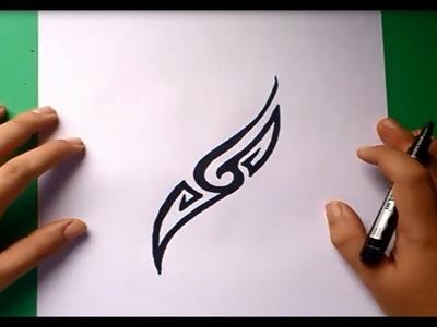 Como dibujar un tribal paso a paso 34 | How to draw one tribal 34
