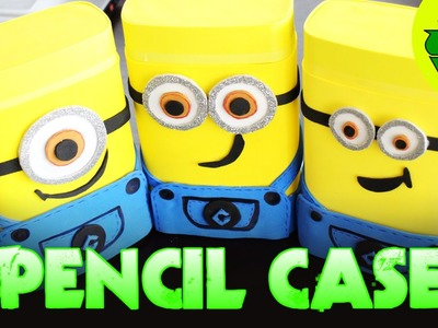 DIY crafts: MINIONS PENCIL CASE with a nesquik box - crafts for kids