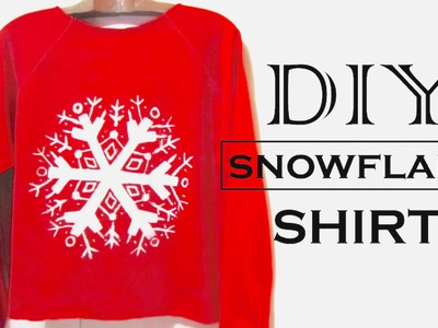 DIY Snowflake Sweatshirt | How to Make a Graphic Sweatshirt