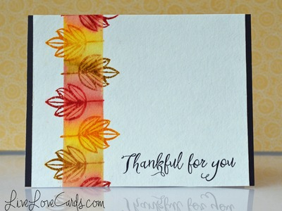 Easy Fall Card with Distress Inks