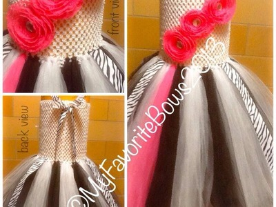 How to add ribbon to your tutu