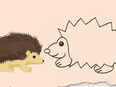 How to Draw a Hedgehog by HooplaKidz Doodle | Drawing Tutorial