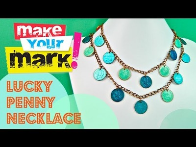 How to:  Make a Lucky Penny Necklace (using nail polish)