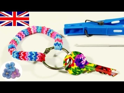 How to make Hexafish Key Chains without Rainbow Loom DIY Cool Key Holder Key Ring Mathie