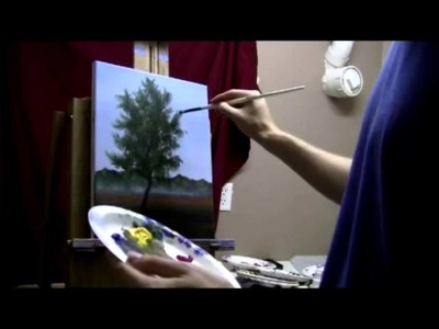 How To Paint An Autumn Tree, Colors Changing - Free Acrylic Painting Lessons by Brandon Schafer