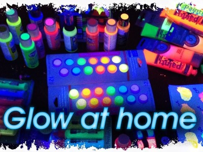 LIVE Glow at home DIY Black light painting  party with The Art Sherpa Vlog