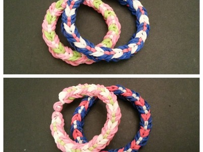 "New Reversible ""Hugs n Kisses"" Rainbow Loom Bracelet. How To Tutorial"