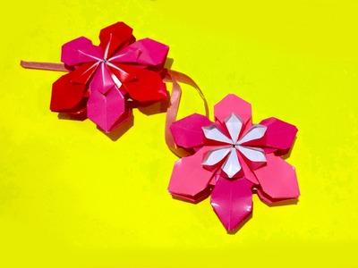 Origami flower ornament. DIY house decor. Amazing DIY necklace.