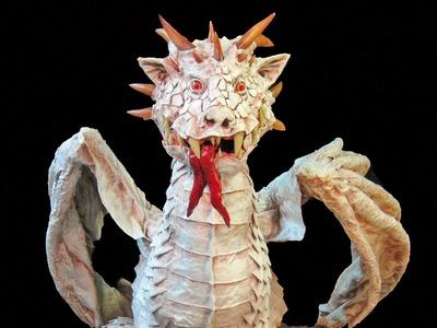 Paper Mache Albino Dragon