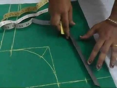 Perfect Blouse Cutting With Measurement in English