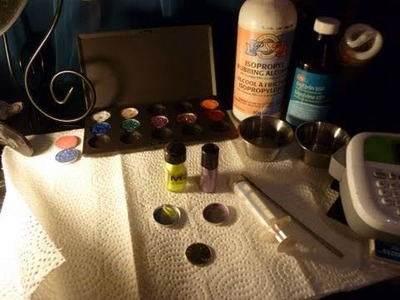 Pigment and Glitter Pressing Tutorial