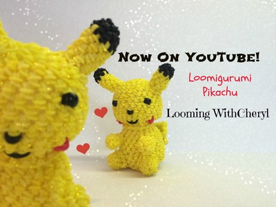 Rainbow Loom PIKACHU - Loomigurumi - Looming WithCheryl