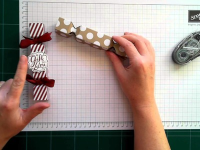 Stampin' Up! Christmas Crackers Using The Envelope Punch Board