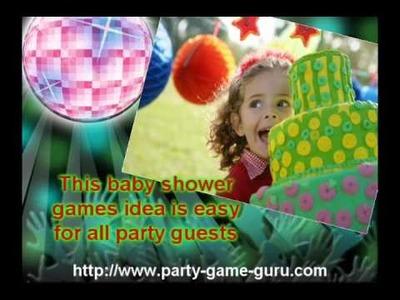 Unique Baby Shower Games Ideas