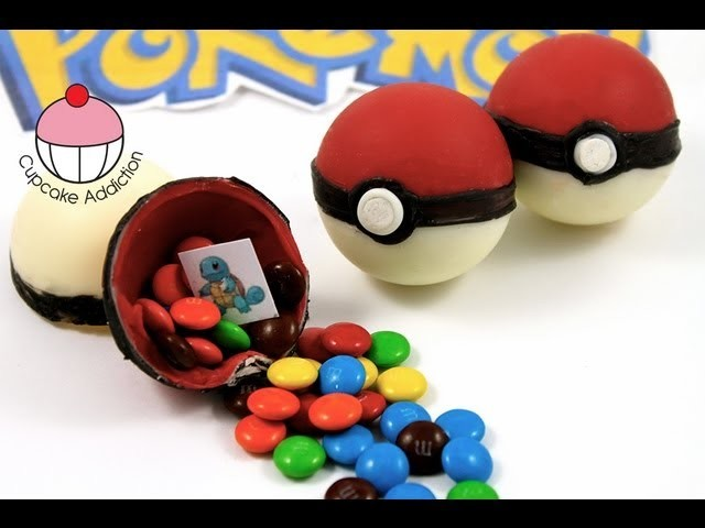 Candy Pokeballs! Make Edible Pokemon Pokeballs - A Cupcake Addiction How To Tutorial