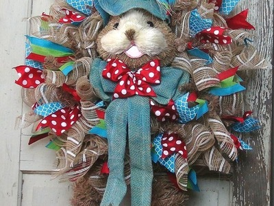 DIY Easter Bunny with Legs Wreath by Trendy Tree