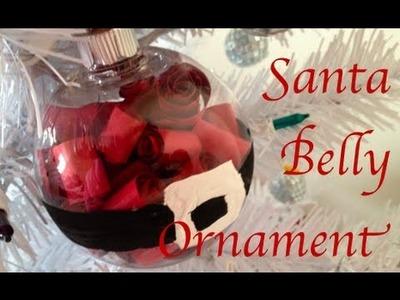 DIY: Santa Belly Ornament  ♡ Theeasydiy #Crafty