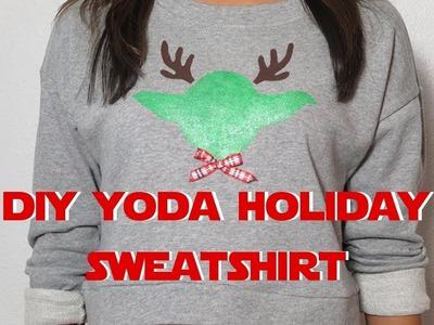 DIY Yoda Holiday Sweatshirt
