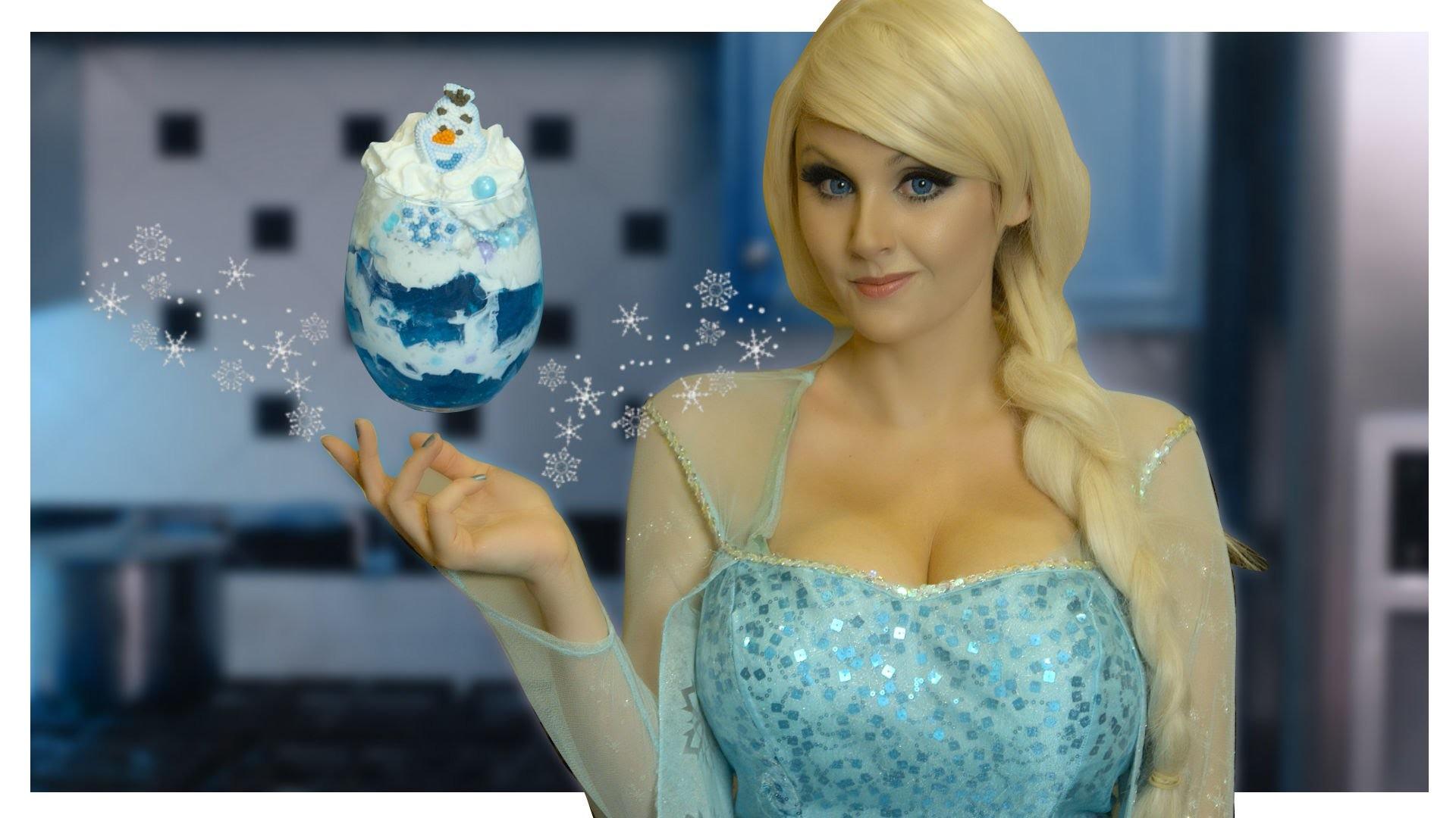 Frozen Elsa Icy Blue Dessert DIY- Elsa Cosplay Kitchen