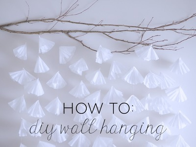 How to: DIY Coffee Filter Wall Hanging