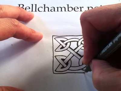 How to Draw Celtic Patterns 50 - Celtic Square Triskele - 3of3