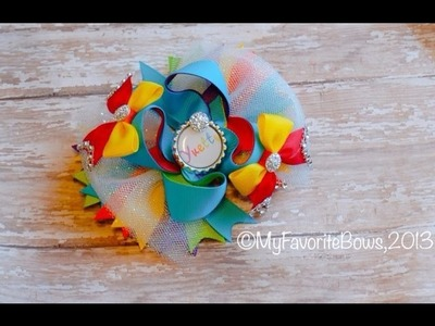 How to make a easy multi color hair bow (rainbow)