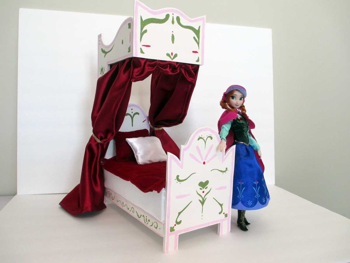 How To Make an Anna Doll Bed Tutorial. Disney Frozen