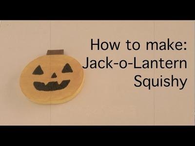 Jack-o-Lantern Squishy Tutorial