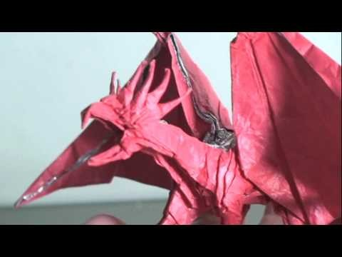 Making of Origami Dragon (Kamiya Satoshi ancient dragon)