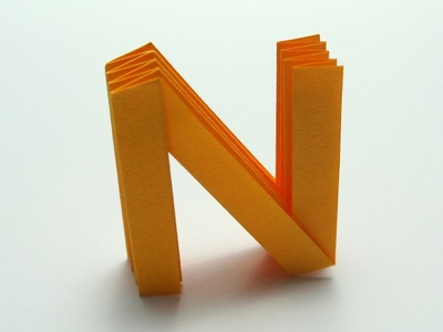 Origami Letter 'N'