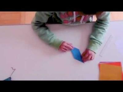 Origami paper cube.2