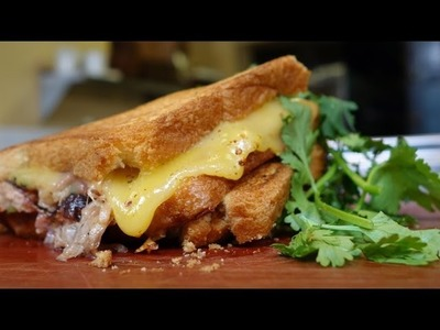 Pulled Pork Grilled Cheese Recipe From Ford's Filling Station | Get the Dish