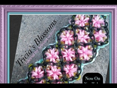Rainbow Loom Band Tricia's Blossoms Bracelet Tutorial.How To