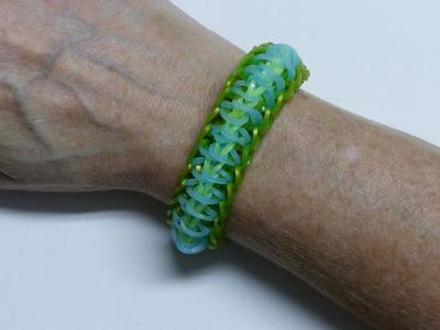 "Rainbow Loom Bracelet ""PILL BUG"" (Original Design) (ref #3Sdd)"