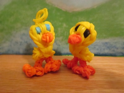 Rainbow Loom Duck. Rubber Ducky Charm. 3-D Standing