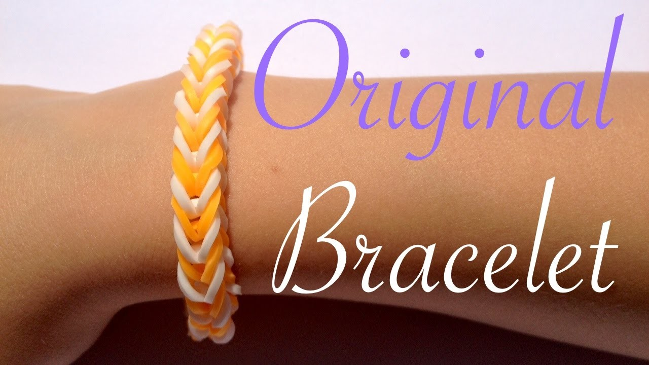 Rainbow Loom  - Original French braid Bracelet  - Tutorial How to (Easy tuto facile français)