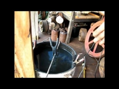 Removing Rust with Electrolysis. the clean way