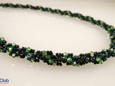 Sparkling Spiral Rope Necklace