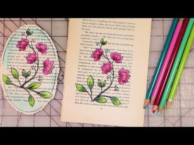 Stamping and colored pencil bookpage tutorial