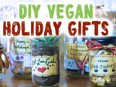 Vegan Holiday Ideas ❄ DIY Mason Jar Gifts