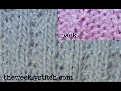 2x2 Garter Stitch Rib