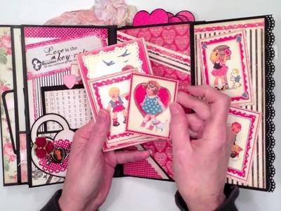 "Authentique ""Lovely"" Paper Bag Mini Album"