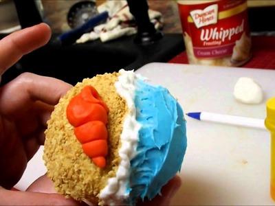 ♥ Beach Cupcakes! [Tutorial]