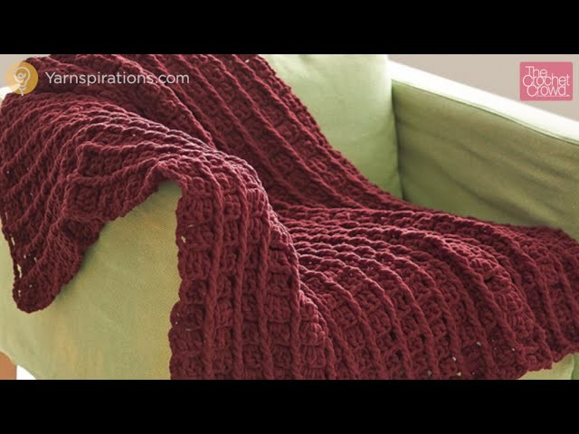 Crochet Bernat Bricks Blanket Tutorial