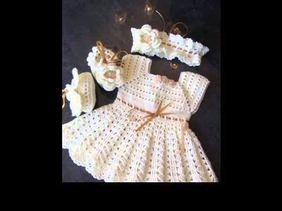 Crochet dress for newborn
