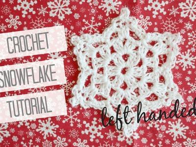 CROCHET: Snowflake left handed | Bella Coco